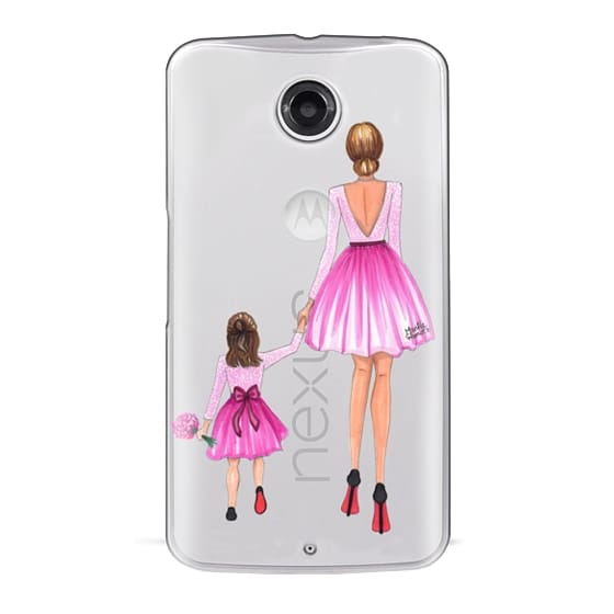 Nexus 6 Cases - Mother Daughter Love (Pink)