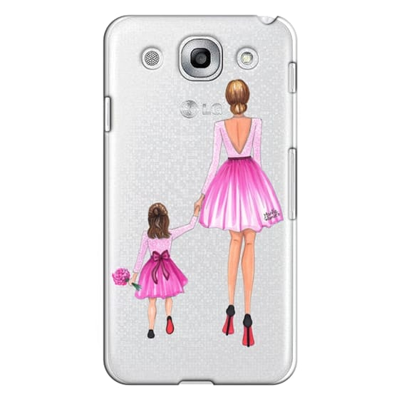 Optimus G Pro Cases - Mother Daughter Love (Pink)