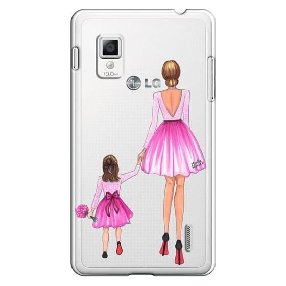 Optimus G Cases - Mother Daughter Love (Pink)