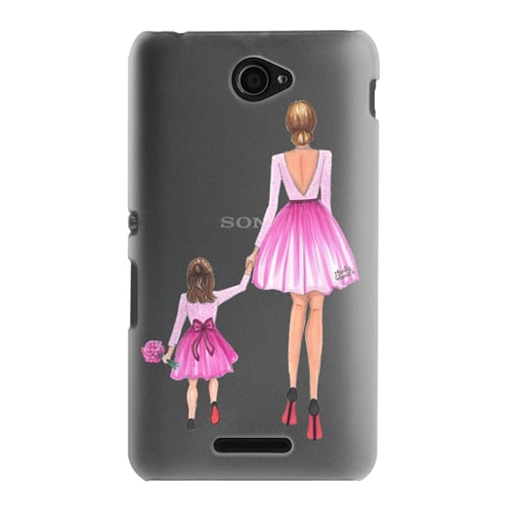 Sony E4 Cases - Mother Daughter Love (Pink)