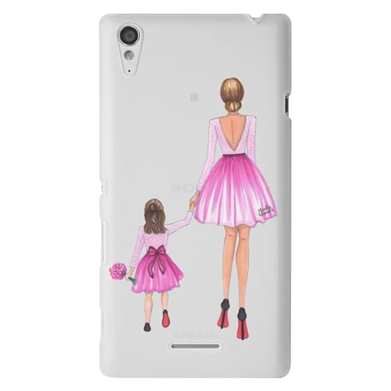 Sony T3 Cases - Mother Daughter Love (Pink)