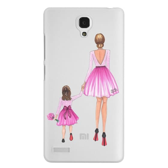 Redmi Note Cases - Mother Daughter Love (Pink)