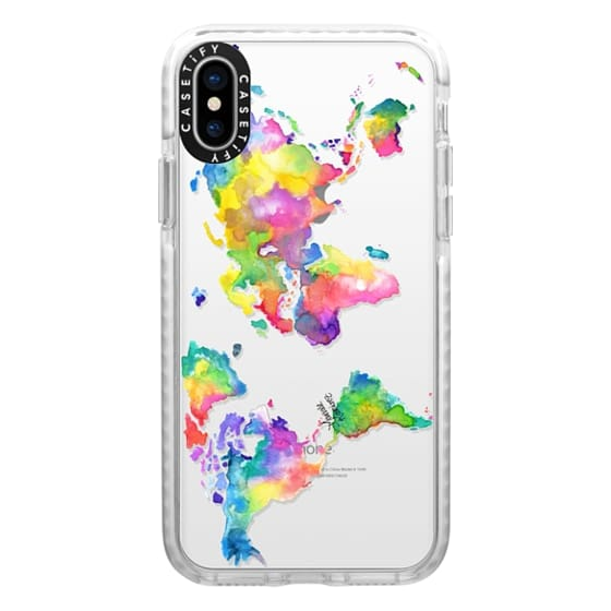 iPhone X Cases - Watercolor My World