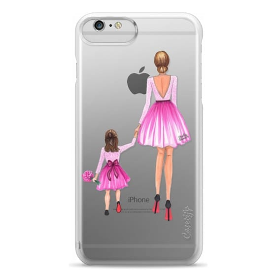 iPhone 6 Plus Cases - Mother Daughter Love (Pink)