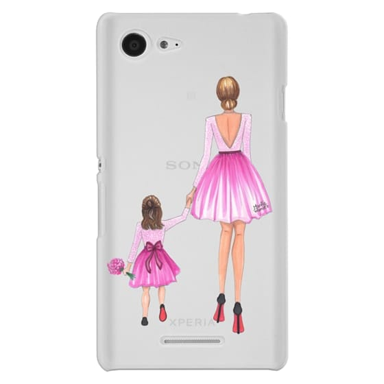 Sony E3 Cases - Mother Daughter Love (Pink)