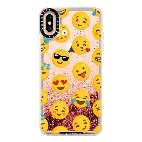 iPhone XS Max Cases - Emoji Love Transparent Case - Nour Tohme