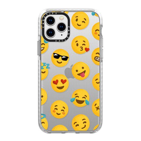 iPhone 11 Pro Cases - Emoji Love Transparent Case - Nour Tohme