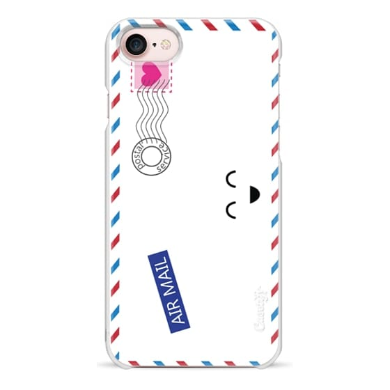 iPhone 7 Cases - Happy Snail Mail Envelope (white)