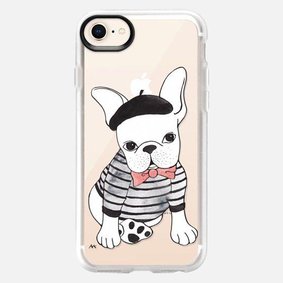 Parisian French Bulldog - Clear - Snap Case