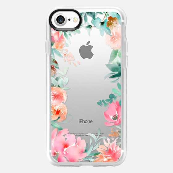 Lush Floral Watercolor Transparent by Julie Song Ink - Wallet Case