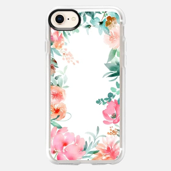 Lush Floral Watercolor by Julie Song Ink - Snap Case