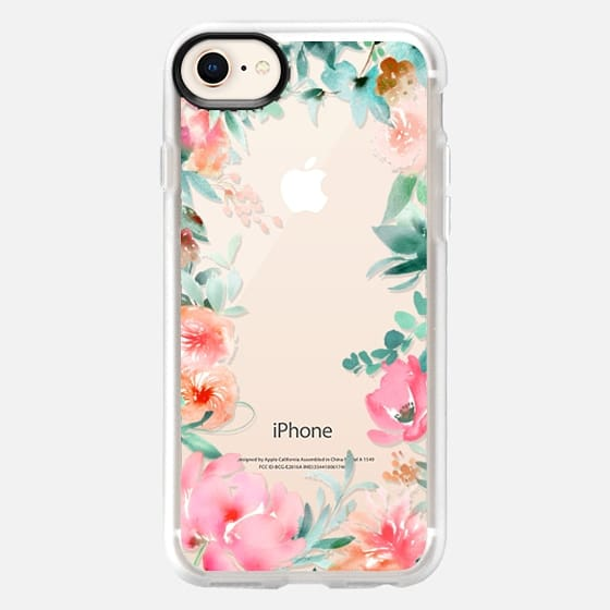 Lush Floral Watercolor Transparent by Julie Song Ink - Snap Case