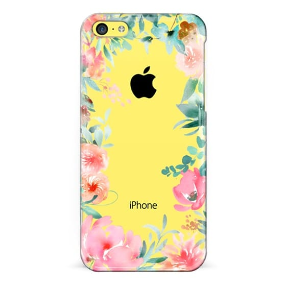 iPhone 6 Cases - Lush Floral Watercolor Transparent by Julie Song Ink