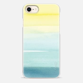 iPhone 8 Case Turquoise Wash by Yao Cheng