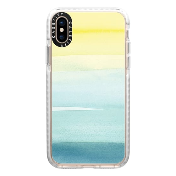 iPhone XS Cases - Turquoise Wash by Yao Cheng
