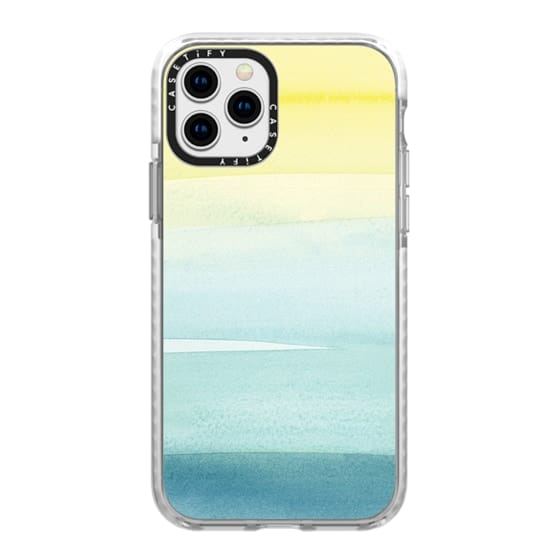 iPhone 11 Pro Cases - Turquoise Wash by Yao Cheng