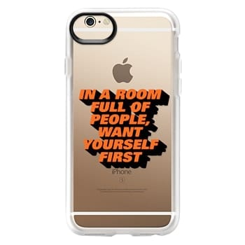 Grip iPhone 6 Case - Want Yourself Quote Self Love Single Relationship