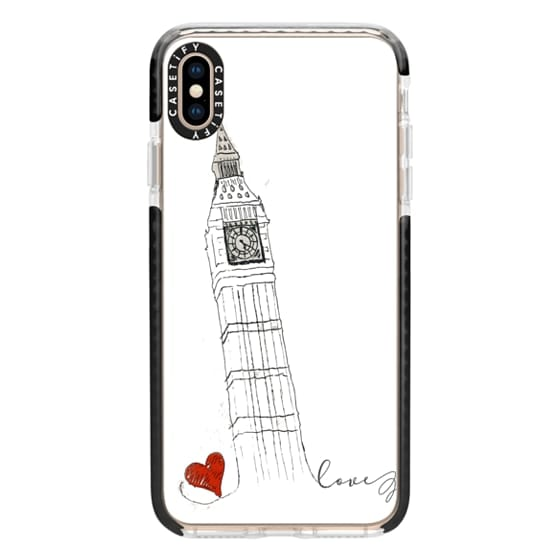 iPhone XS Max Cases - Big Ben Love White