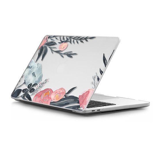 MacBook Pro Touchbar 13 Sleeves - Navy Blush Watercolor