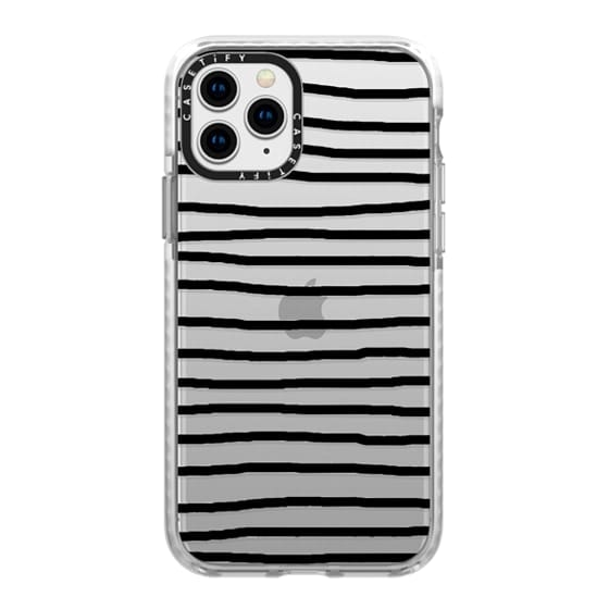 iPhone 11 Pro Cases - Black Crooked Stripes