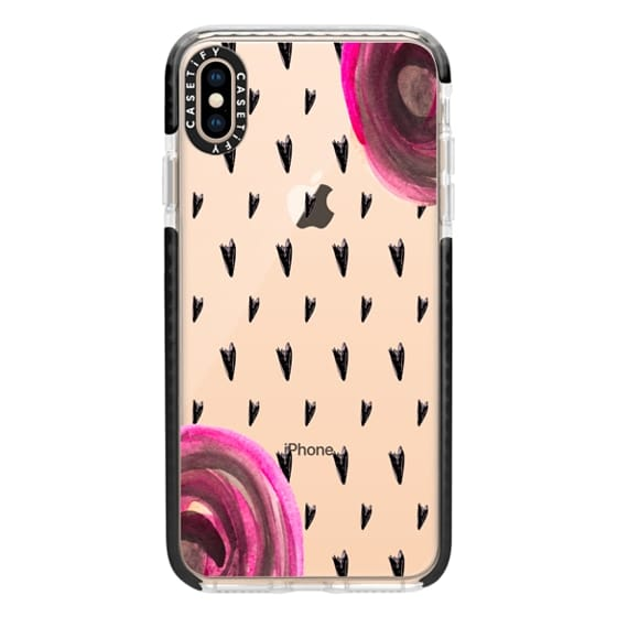 iPhone XS Max Cases - Hearts N Roses
