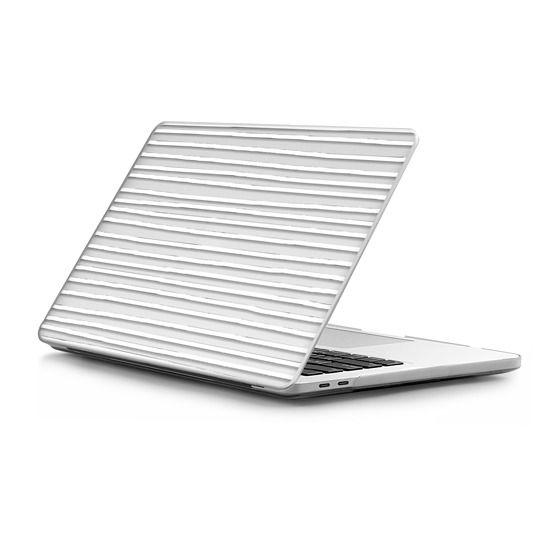 MacBook Pro Touchbar 13 Sleeves - White Crooked Stripes