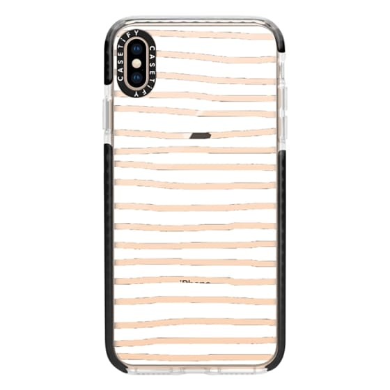 iPhone XS Max Cases - Fat White Crooked Stripes