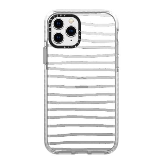 iPhone 11 Pro Cases - Fat White Crooked Stripes
