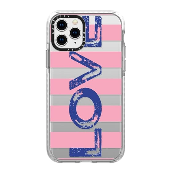 iPhone 11 Pro Cases - love navy on pink