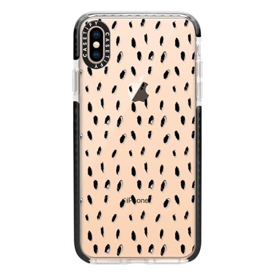 iPhone XS Max Cases - Black Oblong Dots