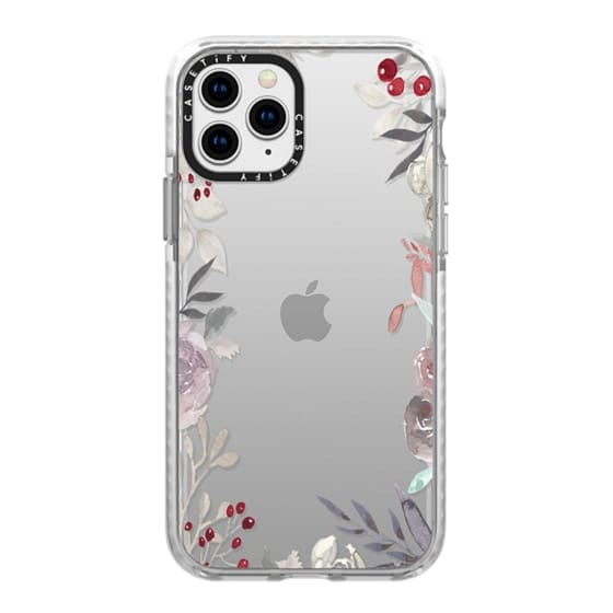 iPhone 11 Pro Cases - Misty Meadow Border
