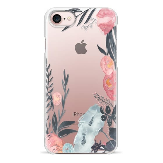 iPhone 7 Cases - Navy Blush Watercolor