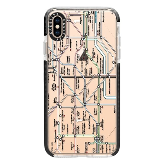 iPhone XS Max Cases - London Tube Map