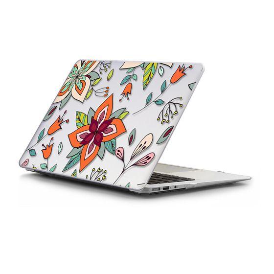 MacBook Air 13 Sleeves - Floral - Orange Sage Mint Green