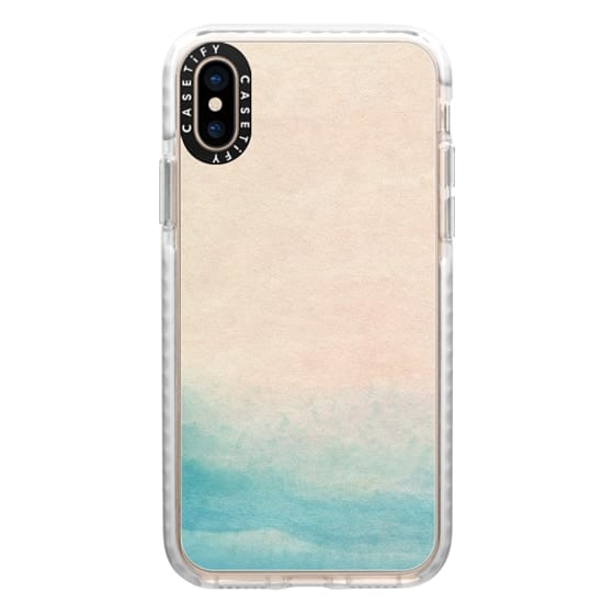 iPhone XS Cases - Ocean Pink and Blue by Malissa Ryder
