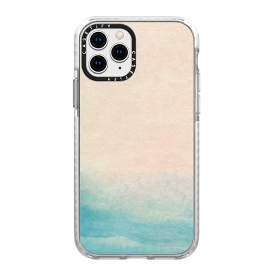 iPhone 11 Pro Cases - Ocean Pink and Blue by Malissa Ryder
