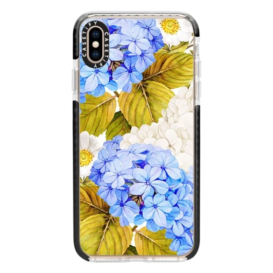 iPhone XS Max Cases - Blue Hydrangea