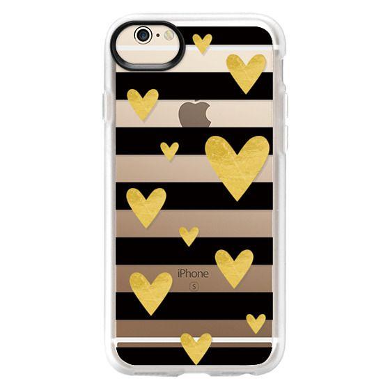 iPhone 6 Cases - Golden hearts