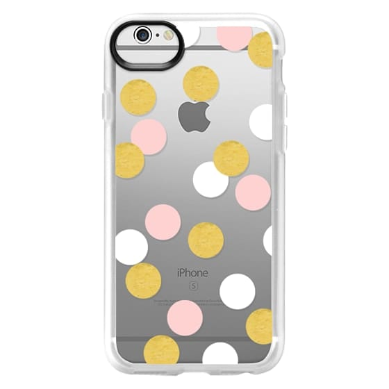 iPhone 6 Cases - Pink white gold dots