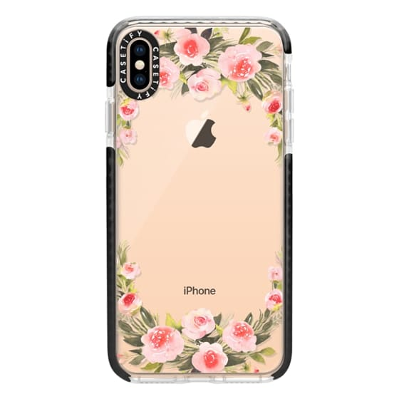 iPhone XS Max Cases - Bohemian rose wreath