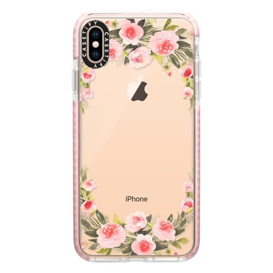 iPhone XS Max Cases - Bohemian rose wreath
