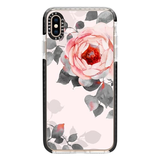 iPhone XS Max Cases - Rose watercolor