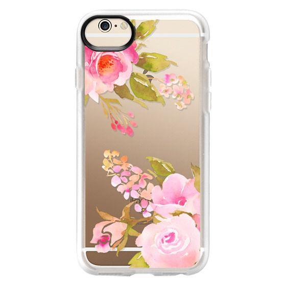 iPhone 6 Cases - Bohemian watercolor roses