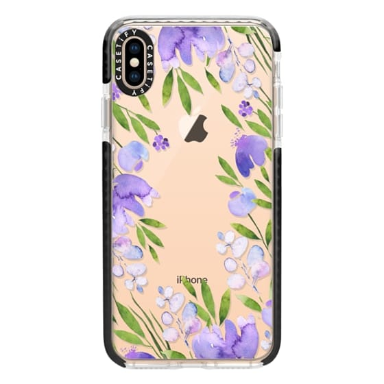 iPhone XS Max Cases - Violet wild flowers