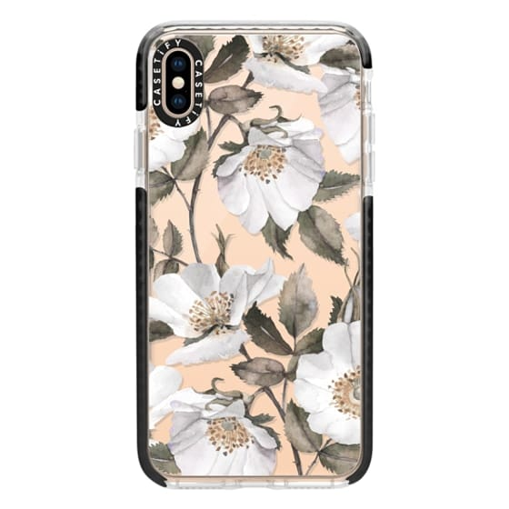 iPhone XS Max Cases - White rose blossom