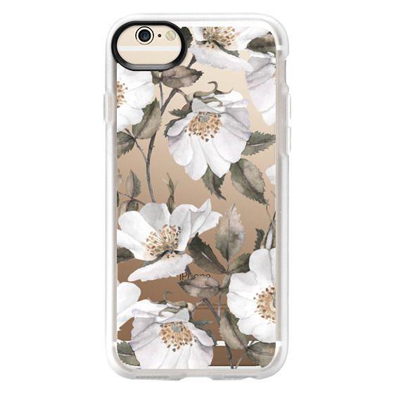 iPhone 6 Cases - White rose blossom
