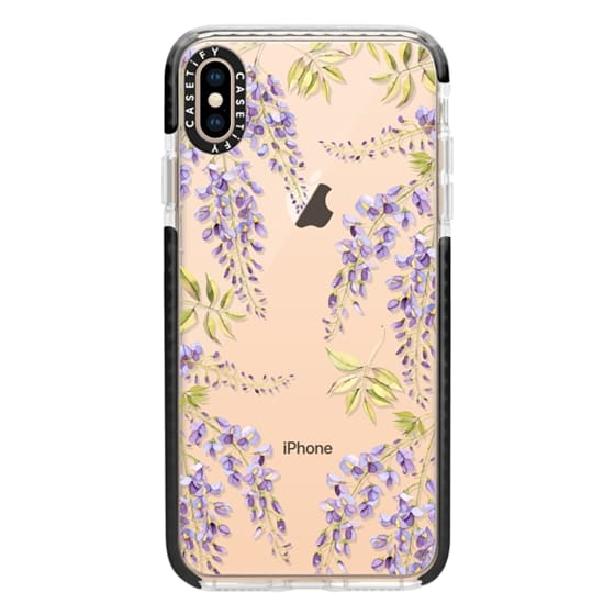 iPhone XS Max Cases - Wisteria blossom