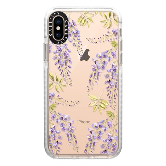 iPhone XS Cases - Wisteria blossom