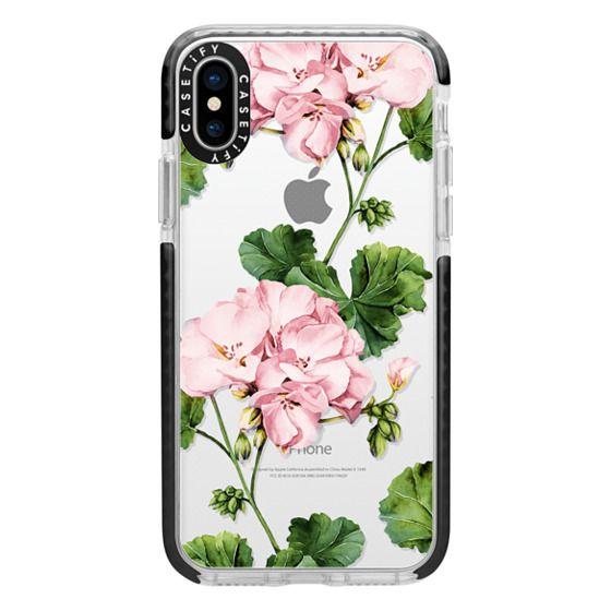iPhone X Cases - Geranium
