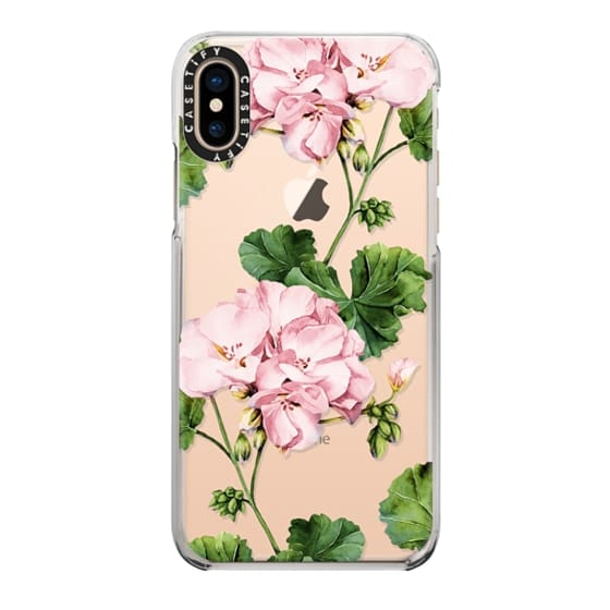 iPhone XS Cases - Geranium
